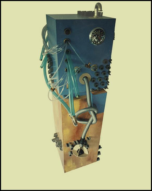 Éléphant électronique - 50 x 65 x 220 cm - Carton et tuyaux