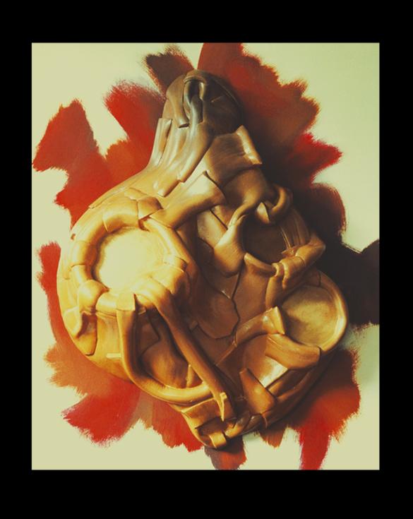 Gluant - 81 x 100 cm - Caoutchouc sur toile