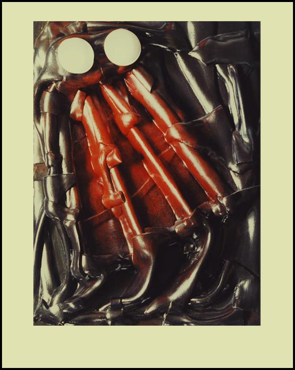 Gluant et noir - 60 x 80 cm - Caoutchouc sur toile