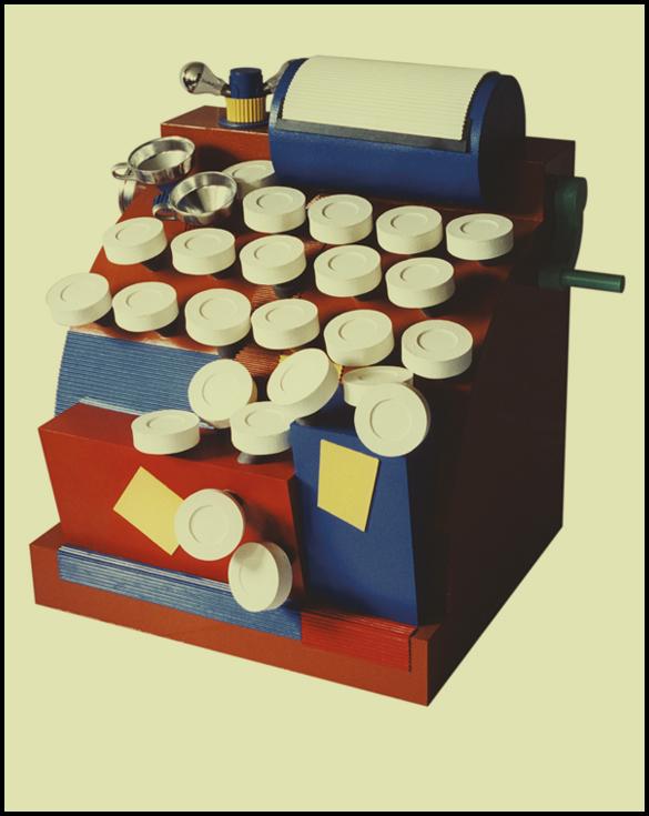 Machine à compter - 80 x 80 x 120 cm - Carton et liège
