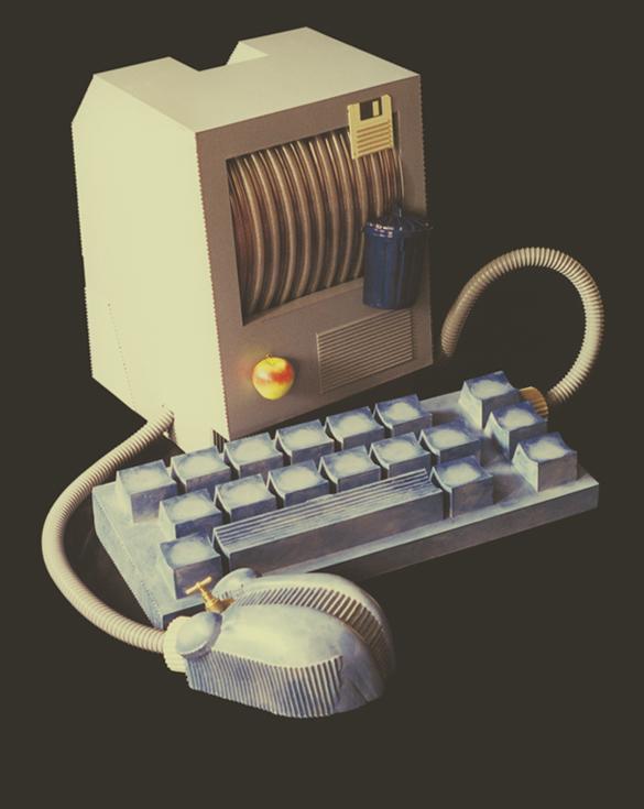 Machine à mémoriser - 50 x 60 cm - Carton et tuyaux