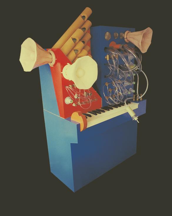 Machine bruitiste - 120 x 200 cm - Carton, tuyaux et caoutchouc