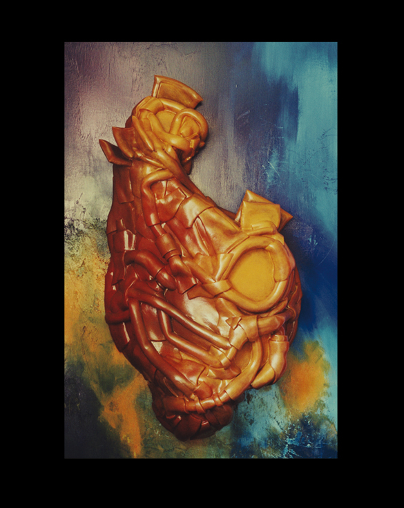 Sans titre - 97 x 146 cm - Caoutchouc sur toile